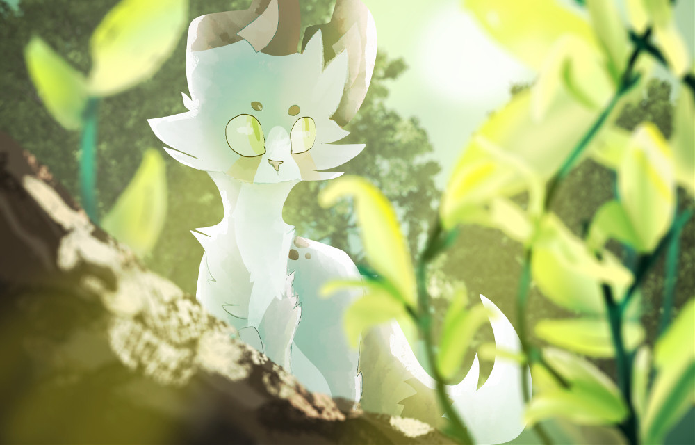 hOnk it's an art trade much bright i like the trees             #art #myart #cat #catart #arttrade #amino #doodle #warriors #cute #plants #nature #green #background #bts #kpop #edit #picsart @picsart