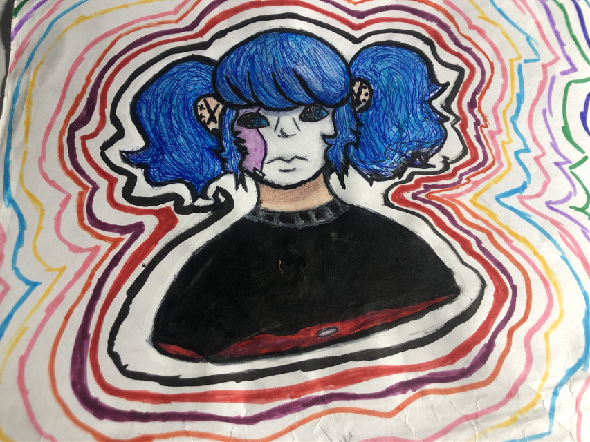 Finished this today and what fucking not. How fucking cool is this shit?   #sal #salfisher #sallyfisher #sallyface #sallyfacegame #sallyfaceart