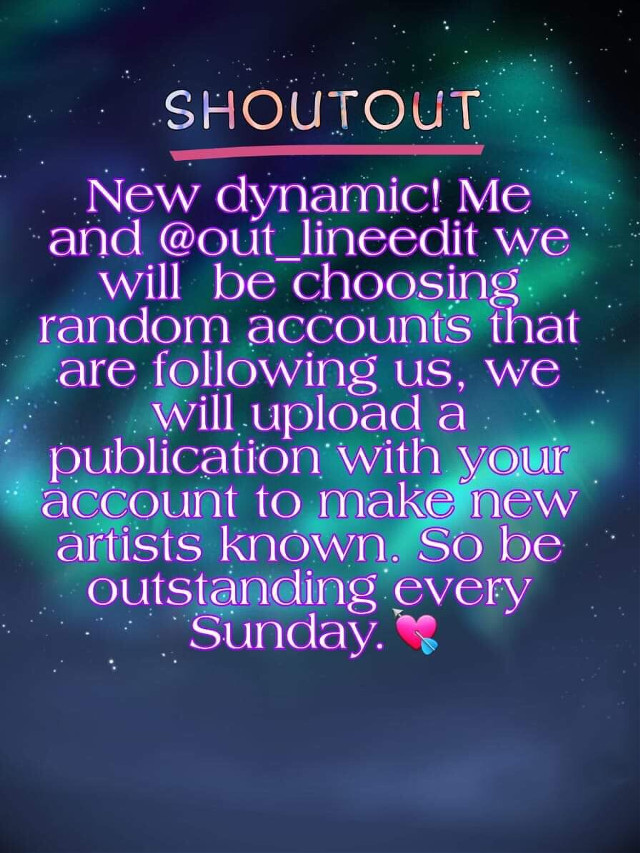 New dynamic! Me and @out_lineedit we will  be choosing random accounts that are following us, we will upload a publication with your account to make new artists known. So be outstanding every Sunday.💘   Rules:  1. Have to follow us 2. In your accounts they have to have content we will not choose people who do not have a single photo in their profile 3. Comment below #charolinesart #outlinesdrawing #angelicoutline #auroraoulines #codeloren #crewloren #shoutout #yourownmendes #outlinesxdaria #outlinesxgabriela #yourownloren #outlinenar #cutedrawiings #lorenminty #dariaxgray #outlines_ni #lemonseditss #cocosoutline #rainyxoutlines #febfam #sesoutlines #vivixdrawings #lboutlines #outlinessophia #outlinesxlara #outlinesxnovak #outlinesxnicoll #outlinesxdrew