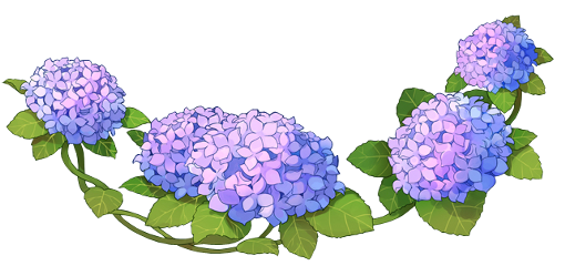 anime flower flowers hydrangea freetoedit