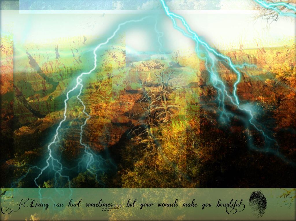 """Grand Canyon, AZ freetoedit quotes """"Living can hurt som..."""