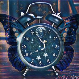 freetoedit midnightmagiceffect clock timeflies moon