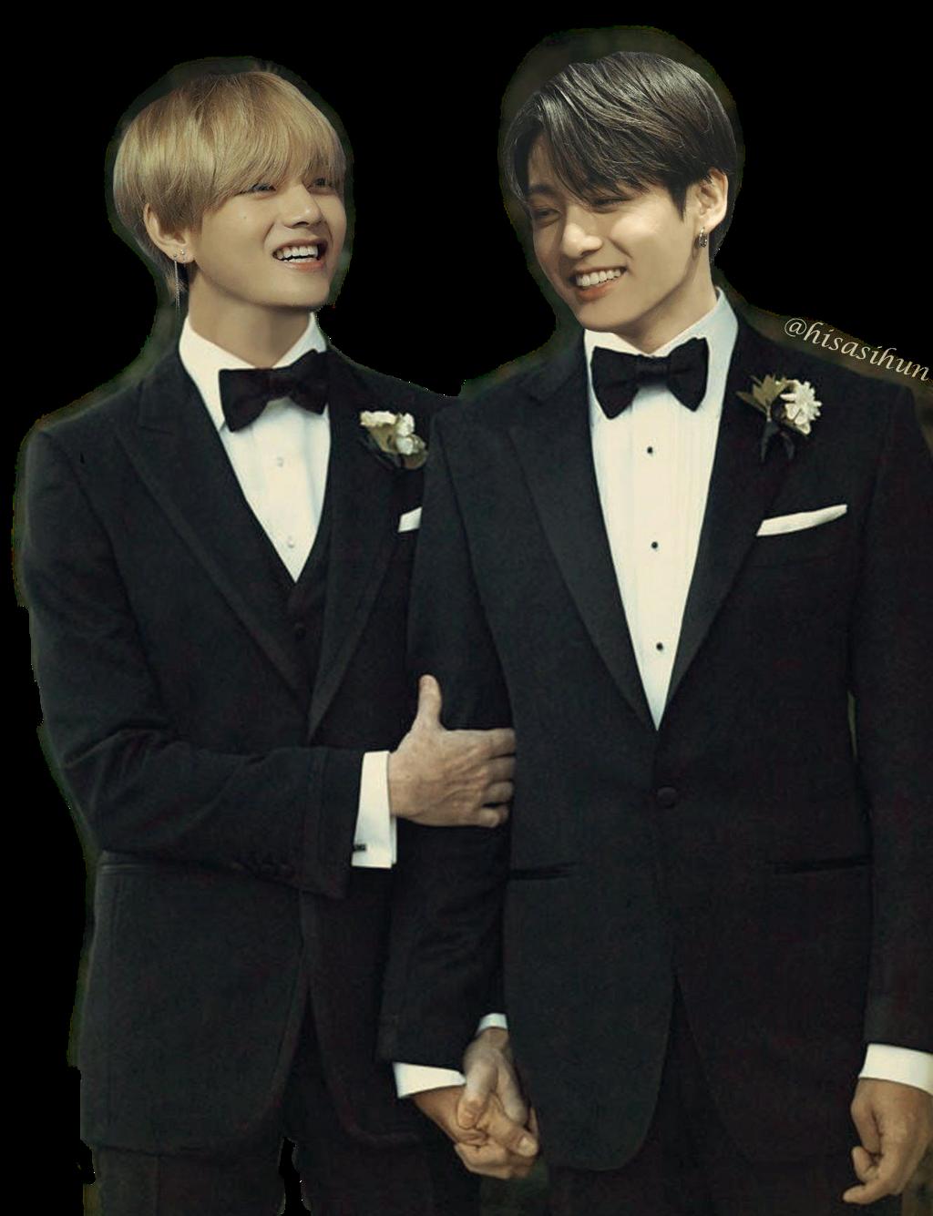taekook married tuxedo suit wedding taehyung jungkook