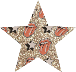 star aesthetic tongue lips rollingstones