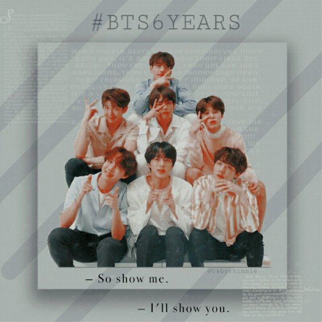 《BTS 6 YEARS》  [12/06/19 at 23:37 p.m] - Brazil  Bts ... You've been doing six years together today, dammit, how long!😍  I've been with them for almost four years, I've lost a good part of their history!  But I am part of the most important moment in their lives: Success! Fame! And lots of love!❤❤❤    I want to talk about how important bts is to me! ...   4 years ago, I joined YouTube and saw a youtuber reacting to such a ... BTS? KPOP? ... What is that? .... That's what I thought. I saw one clip, I saw another, one more ... I liked them all, but I caught a huge love for We Are Bulletproof, I remember to this day how addicted I was to this clip and the music !!  and I fell in love with Jimin first. I always wondered: Who is this boy in red shirt and cap ??! He is so handsome!. That's what I thought. 😂💜 I've been seeing more and more videos and falling in love with the boys, learning their names, their songs.  Until I realized that they did me good, that when I was ill I automatically saw something about them ... So I thought ... They are my medicine! They are my salvation! 😭... Isuffered from depression for a long time and they saved me! Even though they did not know, they saved many lives and one of those lives was mine! 😭 *cry*... I am very grateful to them!  Something that was just to be a joke became such a great love and so intense! ...👊❤   And whenever they ask me what is bts I say with pride: It is the people who are making history, super admirable and kind ...  They are mine family! 💕  And all the fandom is too !!💜   #bts6years #6years #btsanniversary #bts #bangtan #bangtanboys #bangtanboysscouts #bangtansonyeondan #bulletproofboyscouts #beyondthescene #jimin #taehyung #jungkook #jhope #suga #namjoon #rm #jin #seokjin #yoongi #v #parkjimin #minyoongi #kimseokjin #kimnamjoon #jeonjungkook #kimtaehyung #junghoseok #kpop #kpopedit #btsedit #aesthetic #aesthetickpop #aestheticbts #6yearswithbts