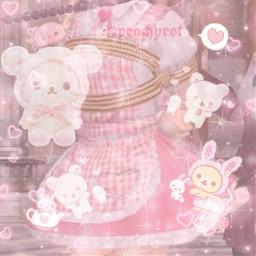 kidcore softcore pinkaesthetic rillakkuma freetoedit