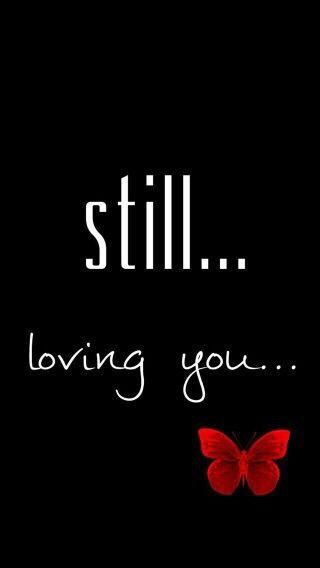 #freetoedit #still #lovingyou #text #butterfly #black #red #white