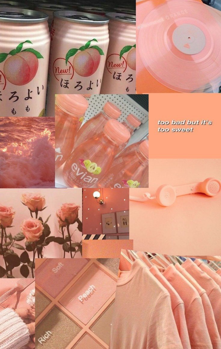 Peach Aesthetic Wallpaper Thingy Idk I Don T Really