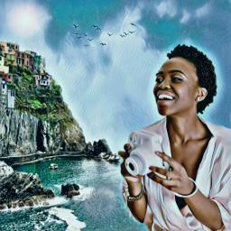 freetoedit seaside tourist mountainviews