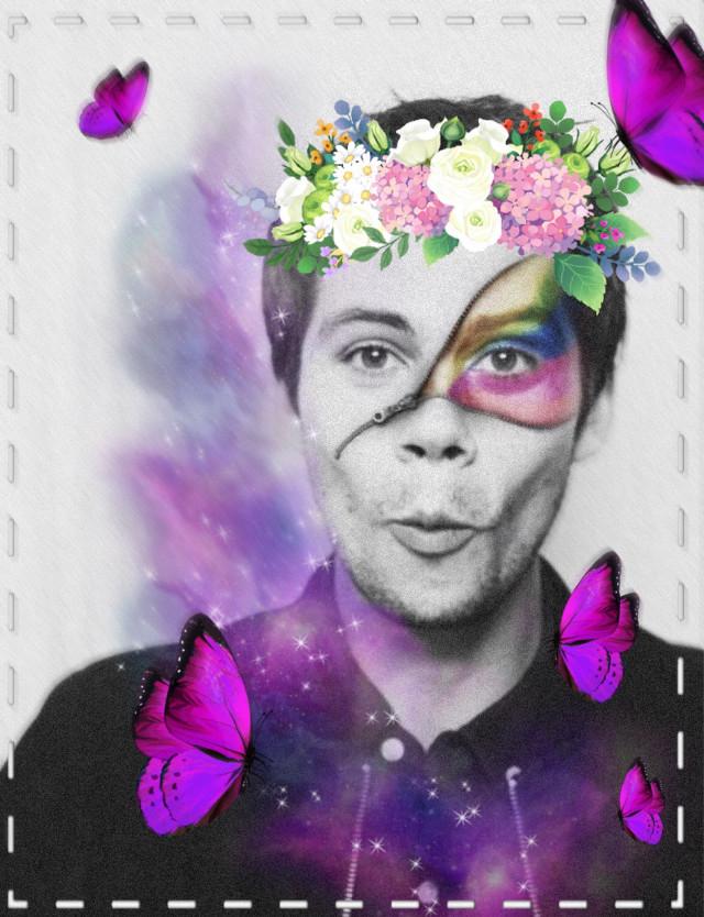 #freetoedit #pride #interesting #butterflys #purple #flowercrown #dylanobrien #dylan