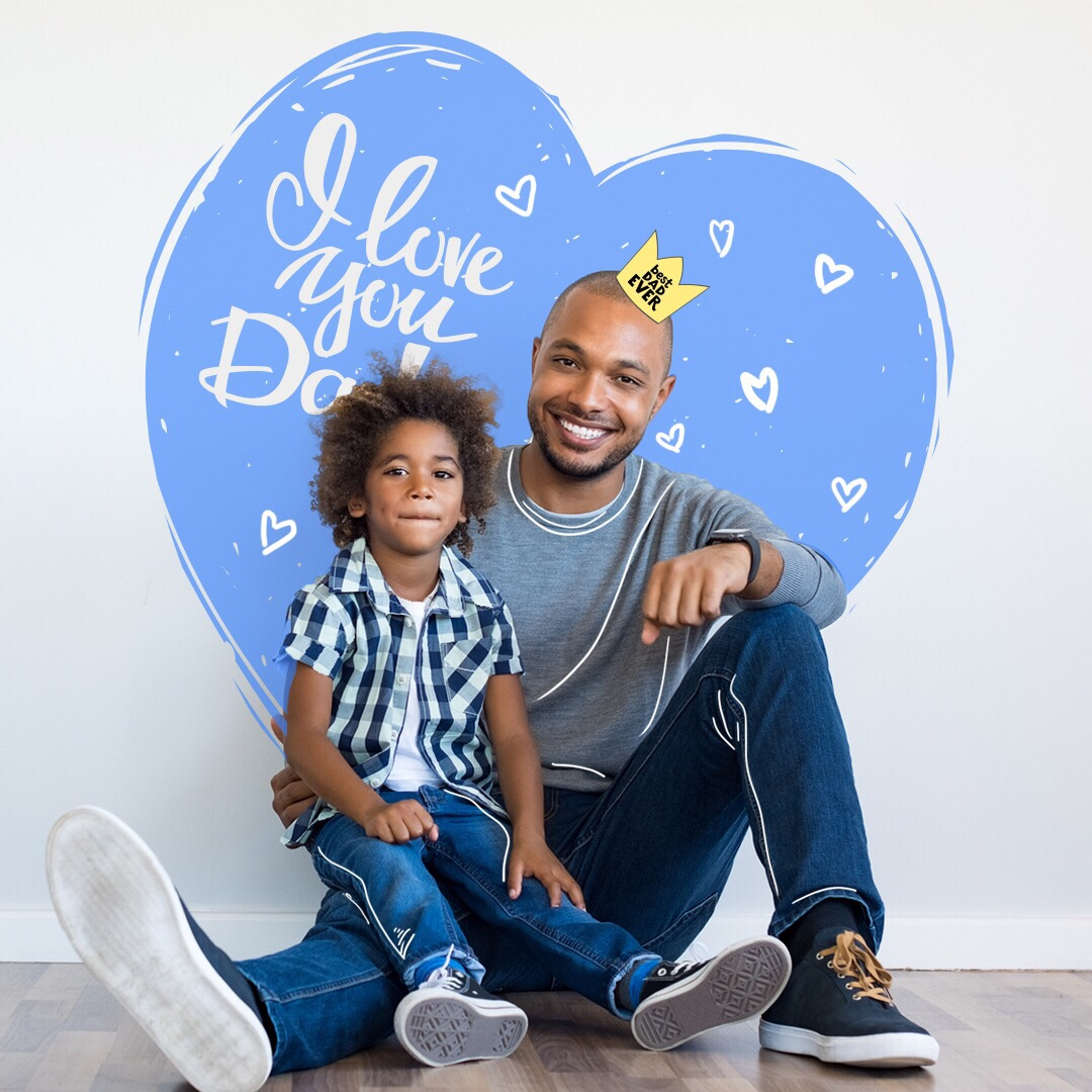 Happy Father's Day 💙 Celebrate by creating an edit of you and your DAD! #fathersday #dad #fatherdaughter #cute #freetoedit