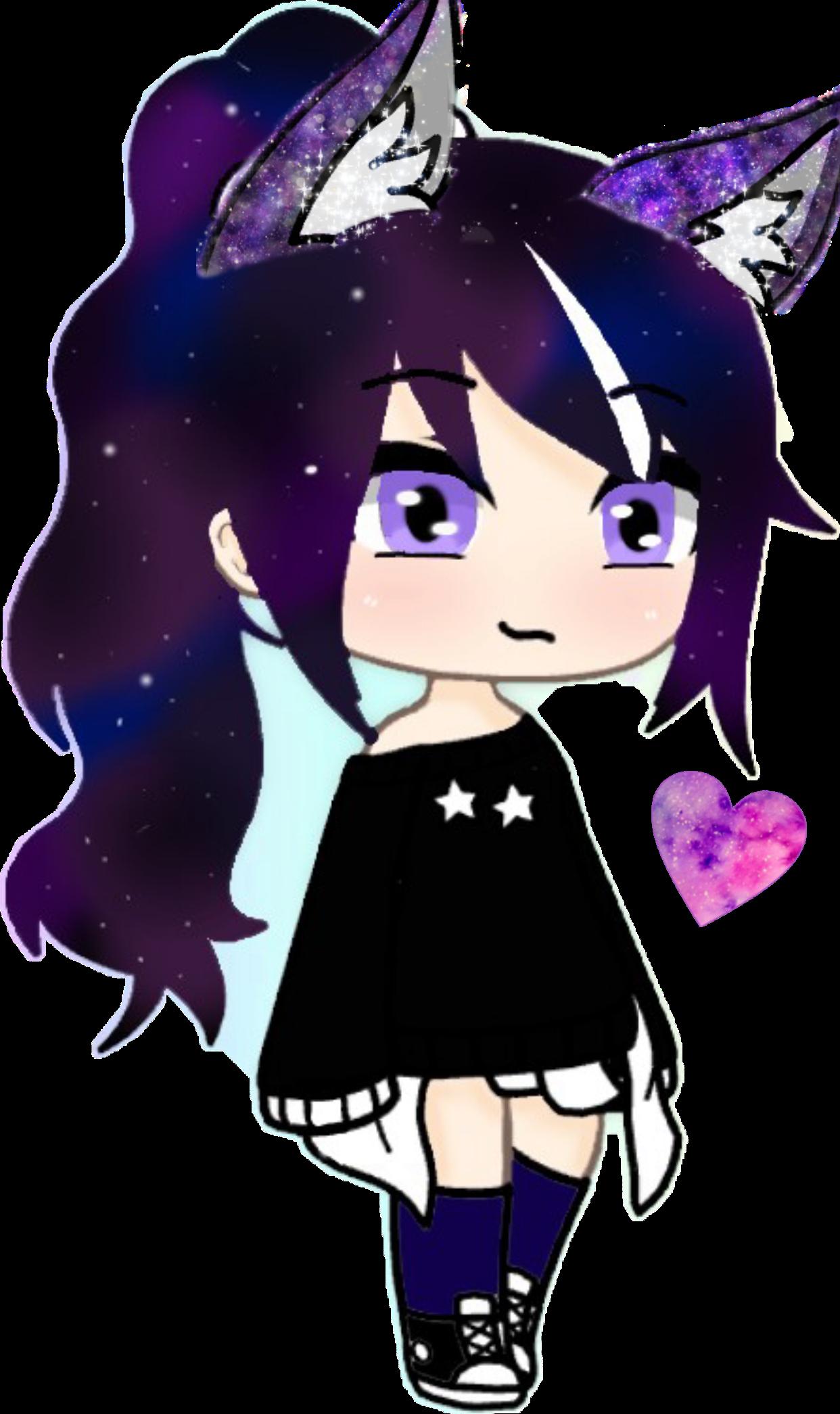 Galaxy Gacha Life Wolf Girl Drawing