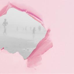 freetoedit pink beach rippedpaper ripped