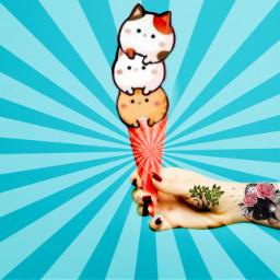 ecicecream icecream freetoedit icecreamcats cats cone