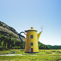 freetoedit surreal teapot pot smoke
