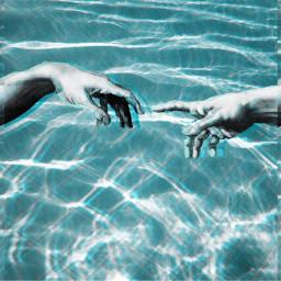 pool michelangelo aesthetic blue followforfollow freetoedit