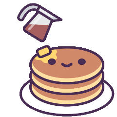 butter syrup pancakes food cute freetoedit
