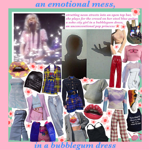 #moodboard #pinkaesthetic #edgy #pop #punk #style #aesthetic