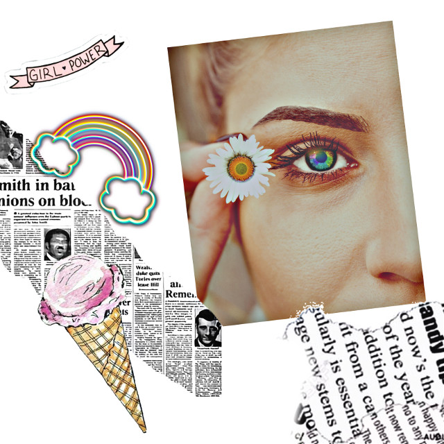 #freetoedit #rainbow #girl #girlpower #newspaper