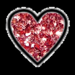 heart red glitter shimmer glittery