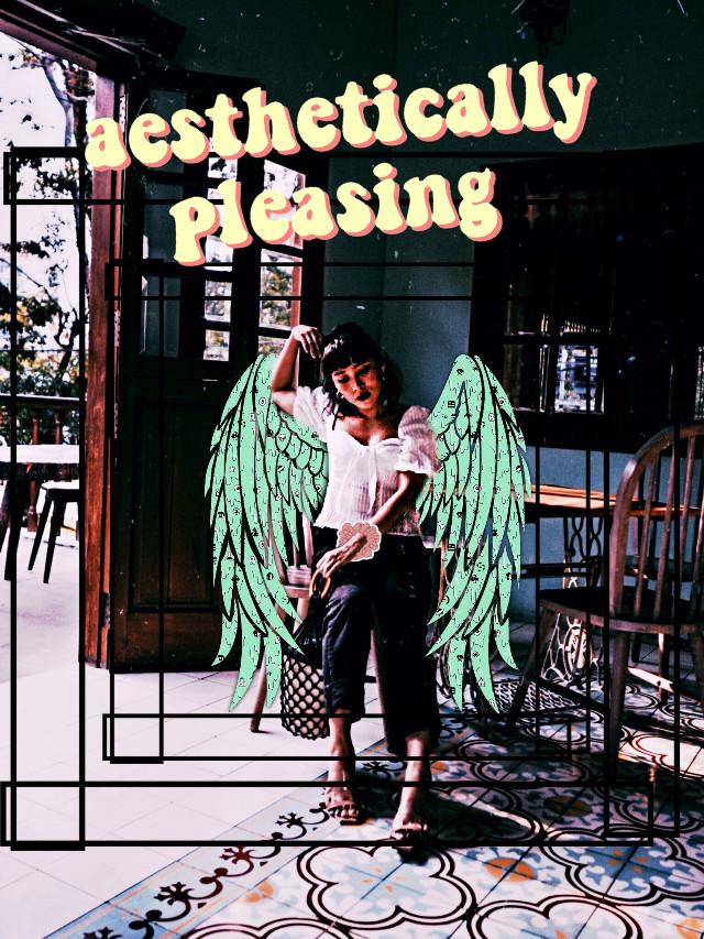 #freetoedit #girl #wings #greenwings #aestheticallypleasing #brownhair #frame #indoors #scrunchie #cute 💛💓💓