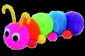 soft rainbow toy craft caterpillar freetoedit