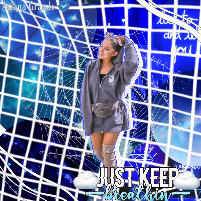 Do you like it? 💙 #blue #arianagrande #justkeepbreathin #overlays #blueaesthetic #freetoedit