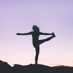 yoga girl girls people silhouette freetoedit