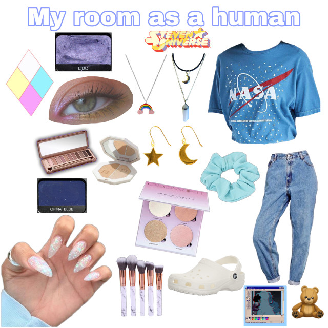 My room as a human, took a while to make lmao #stevenuniverse #aesthetic #room #roomaesthetic #aestheticroom #blue #blueaesthetic #aesthetics  #freetoedit