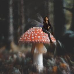 freetoedit mashroom girl fairy wings ectinypeople