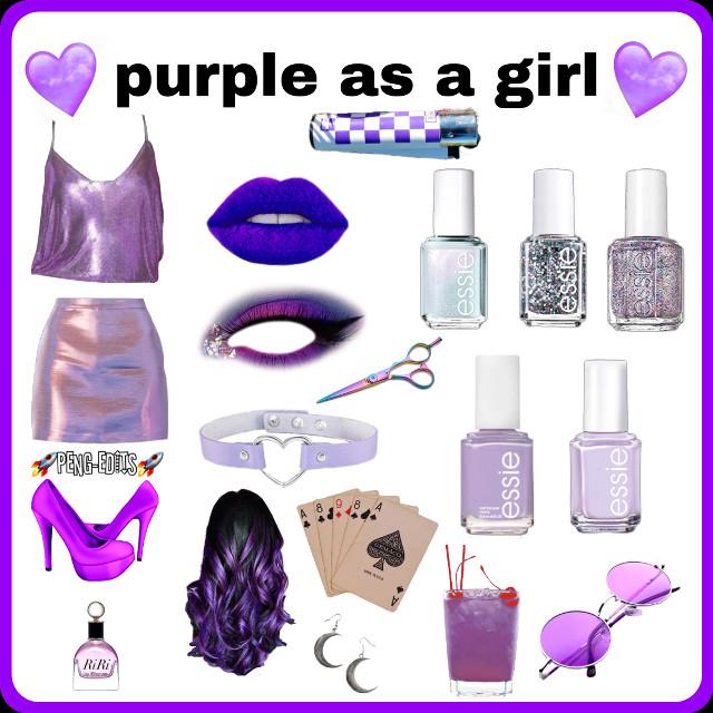 Purple as a girl 💜  #purpleasagirl #purple #purpleaesthetic #edit #collageedit #purpleedit #freetoedit
