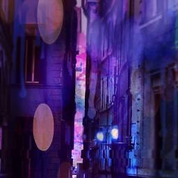 alleyway alley aestheitc purple