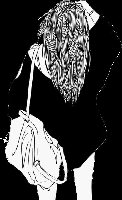 Girl Drawing Tumblr Cute Aesthetic Asthetic Girldrawing