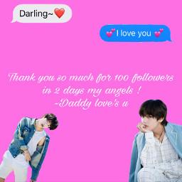 100followers thanks iloveyou bts taehyung