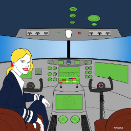 freetoedit pilot mydrawing illustration cockpit