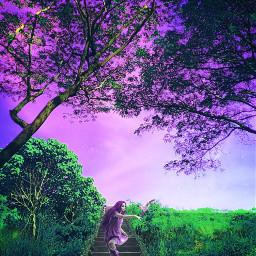 remix forestgirl forest purplepower freetoedit