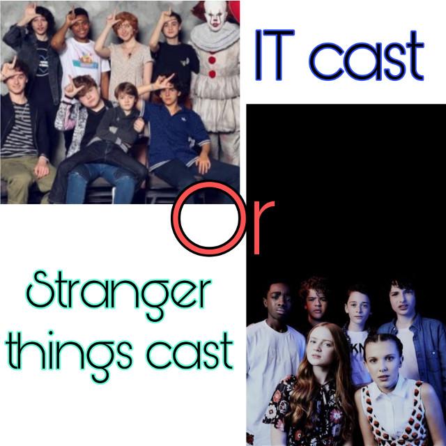 IT cast or Stranger things cast?  #strangerthings #itcast