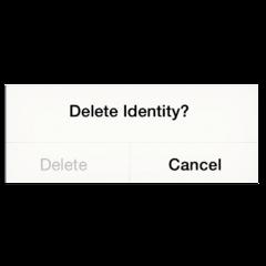 delete identity cancel