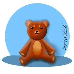 freetoedit tedy bear toy drawing dcchildhoodtoy