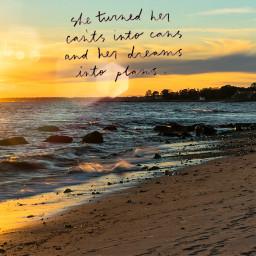 freetoedit sunset beach positivevibes quotes