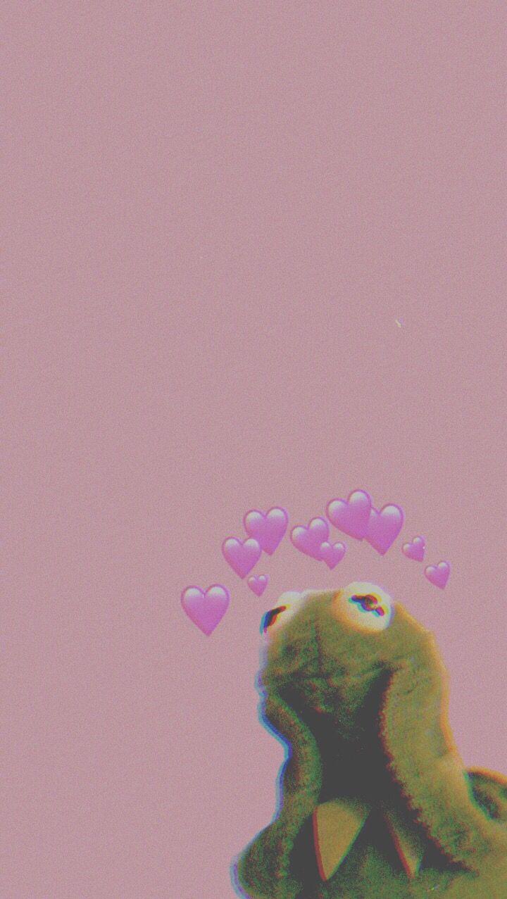 Freetoedit Kermit Wallpaper Iphone Meme Heart Aestheti