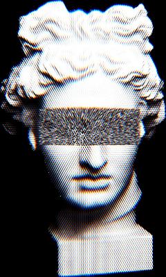 vaporwave aesthetic sadaesthetic static sticker sculpture sculptures freetoedit