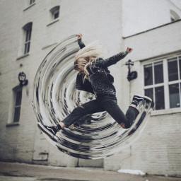 freetoedit swirl watereffect circular cylindermirror