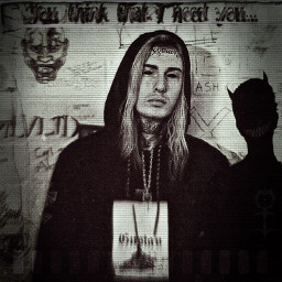freetoedit ghostemane noiseeffect blackandwhite scary
