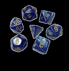 blue aesthetic dice gold freetoedit