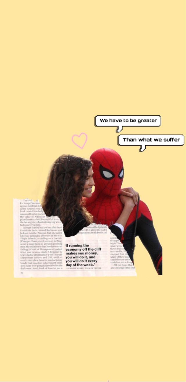 Spiderman wallpaper #tomholland #zendaya #wallpaper