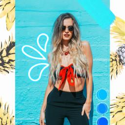 unsplash freetoedit summergirl template palette