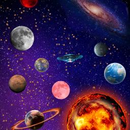 uzay uzaylı ufo star saturn freetoedit