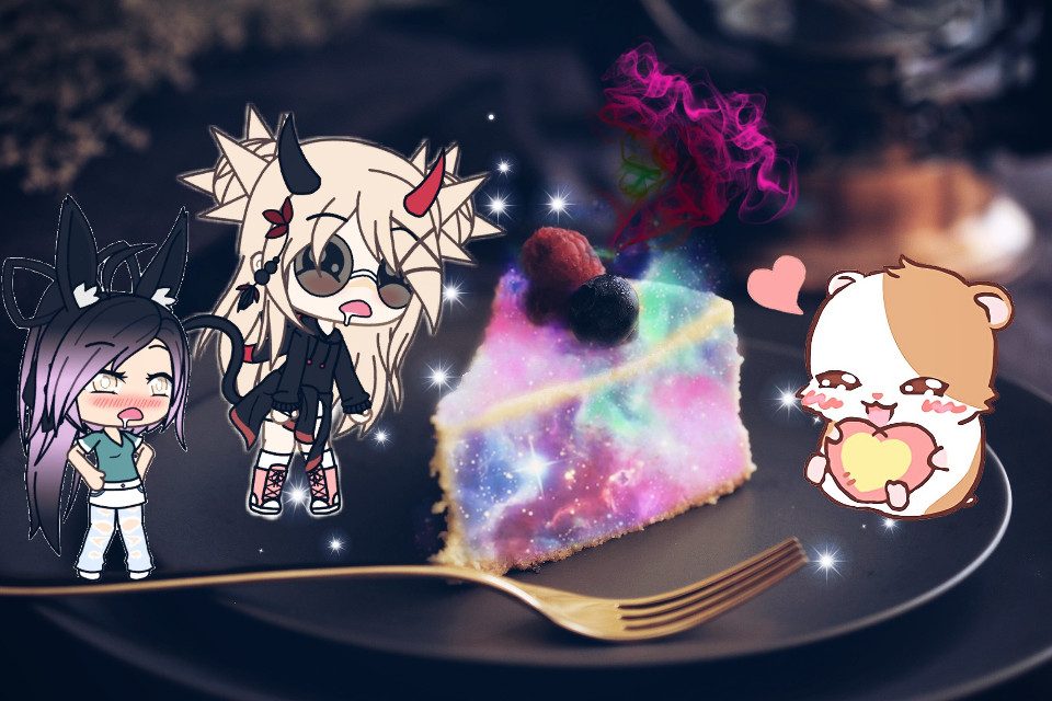 #freetoedit #yummy #gachaverse #dessertlover #dessert #kitties #cake #magical #colorful #drooling #happy #anime