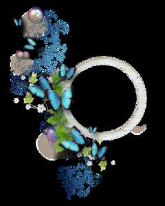 cluster butterflies blue freetoedit